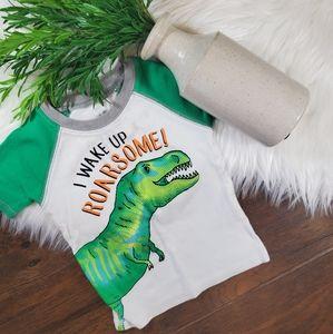 🌿5/$25 Carter's Green Dinosaur Pajama Top |sz 18m